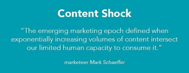 Content Shock citaat